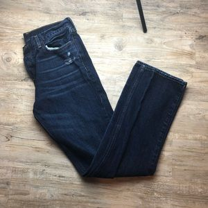 Hollister classic straight distressed dark jeans